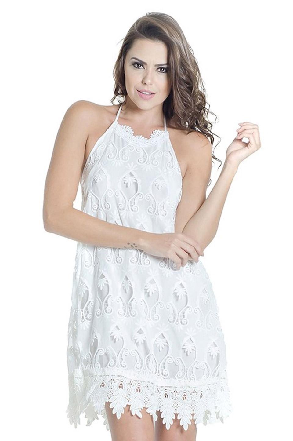 Vestidos brancos renda