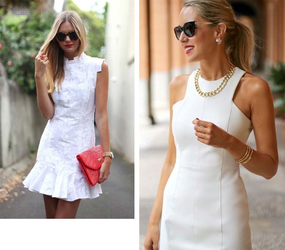 Vestido branco com classe