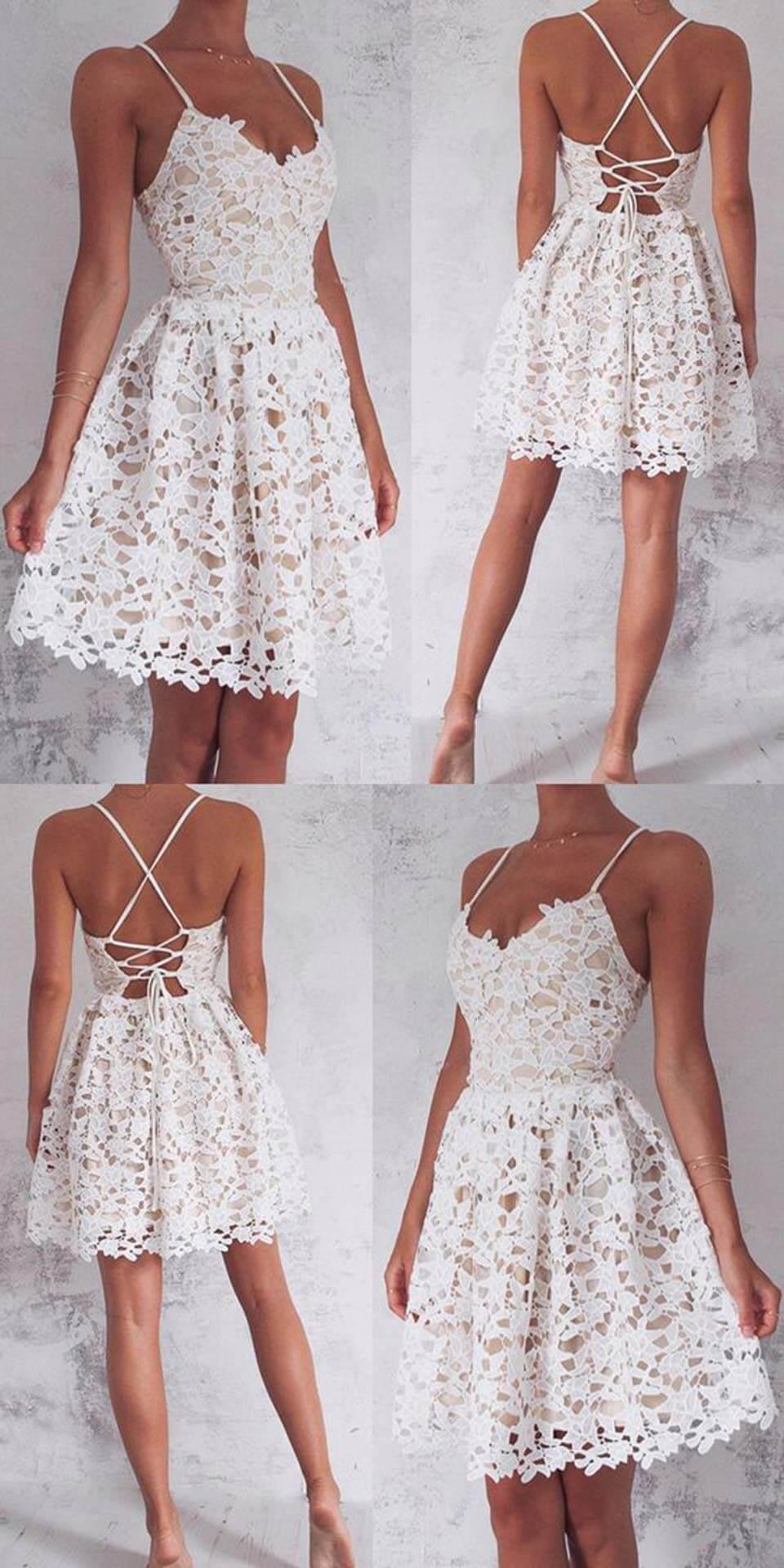 Vestido branco com renda