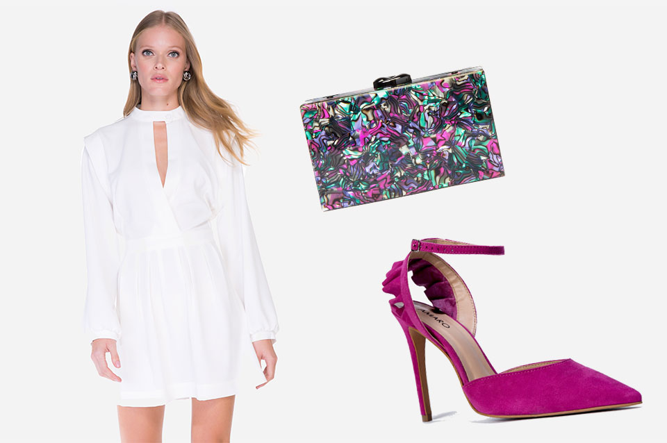 Vestido branco: como usar sapato