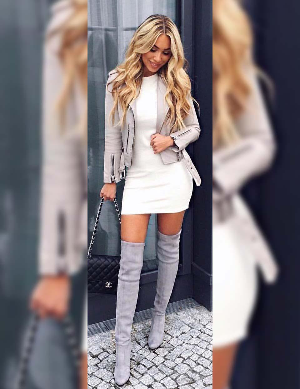 Vestido branco inverno