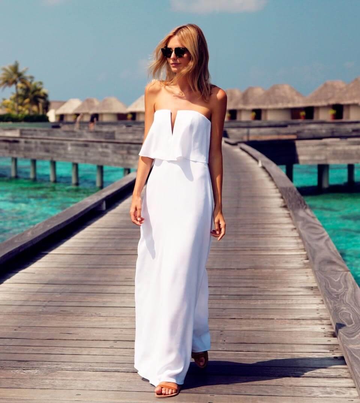 Vestido branco longo - Tuula Vintage