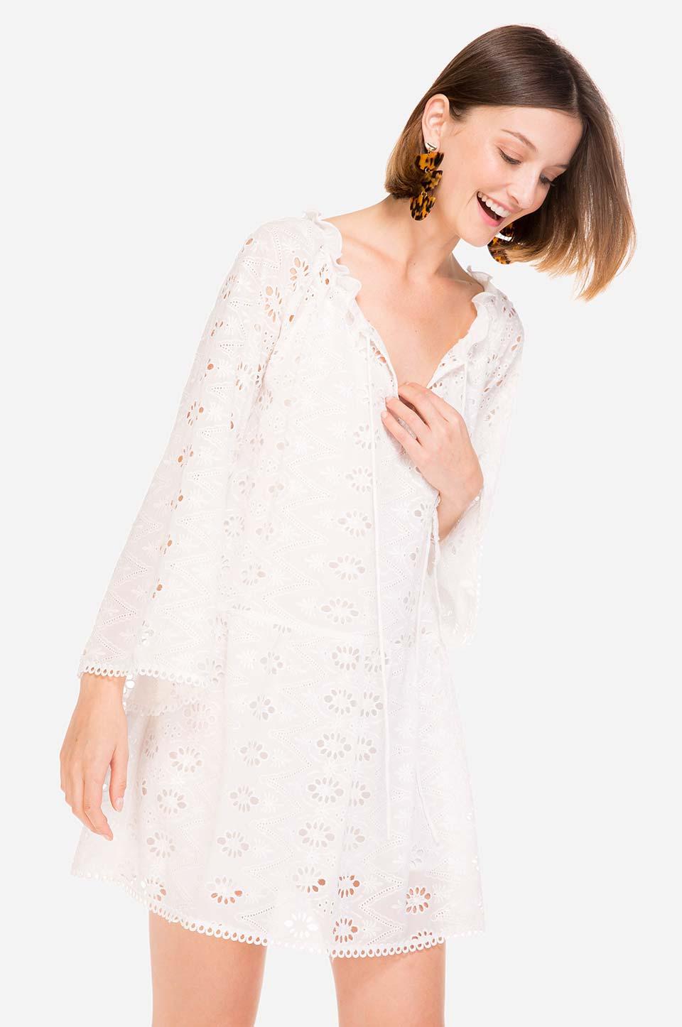 Vestido branco de Verão