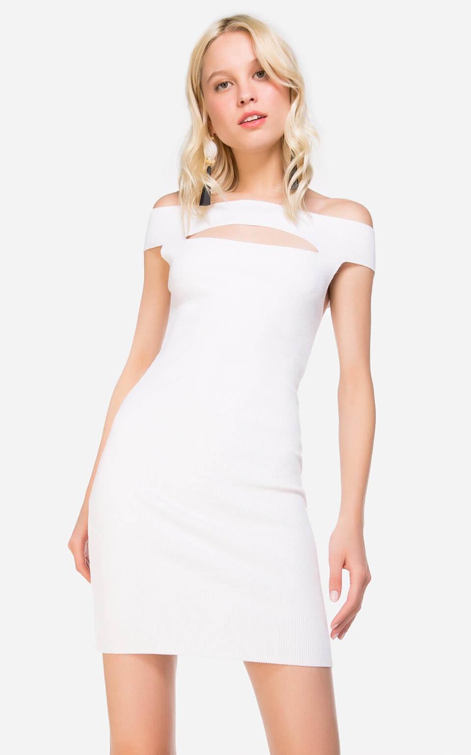 Vestido curto offwhite