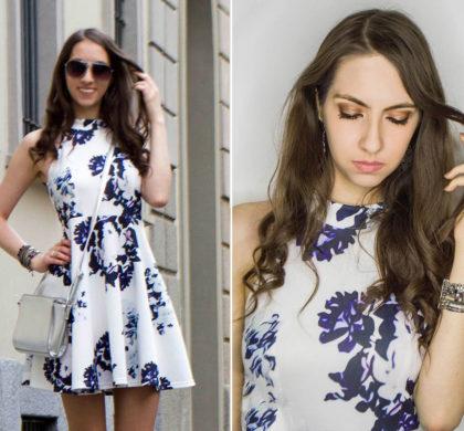 Vestido floral branco: Look do dia