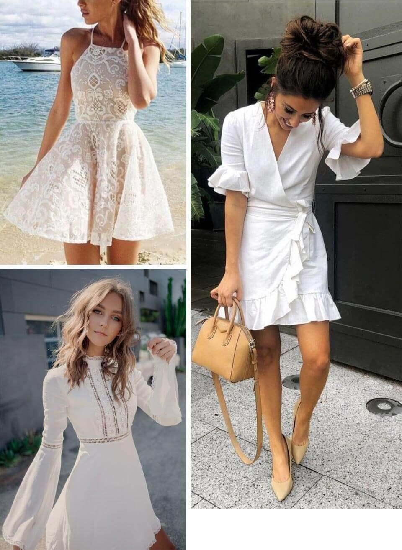 Vestidos brancos curtos: Looks