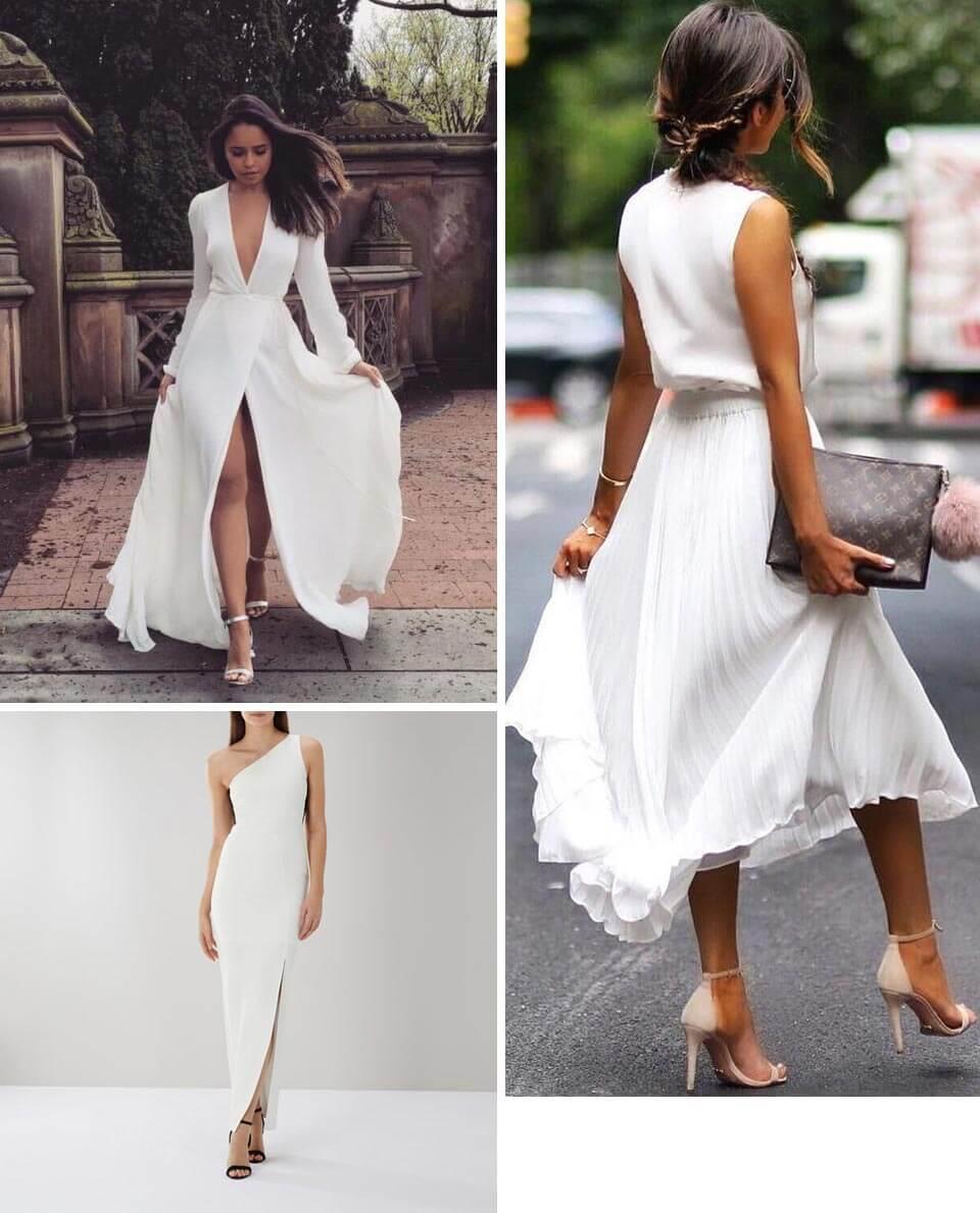 Ideias de Vestidos brancos longos