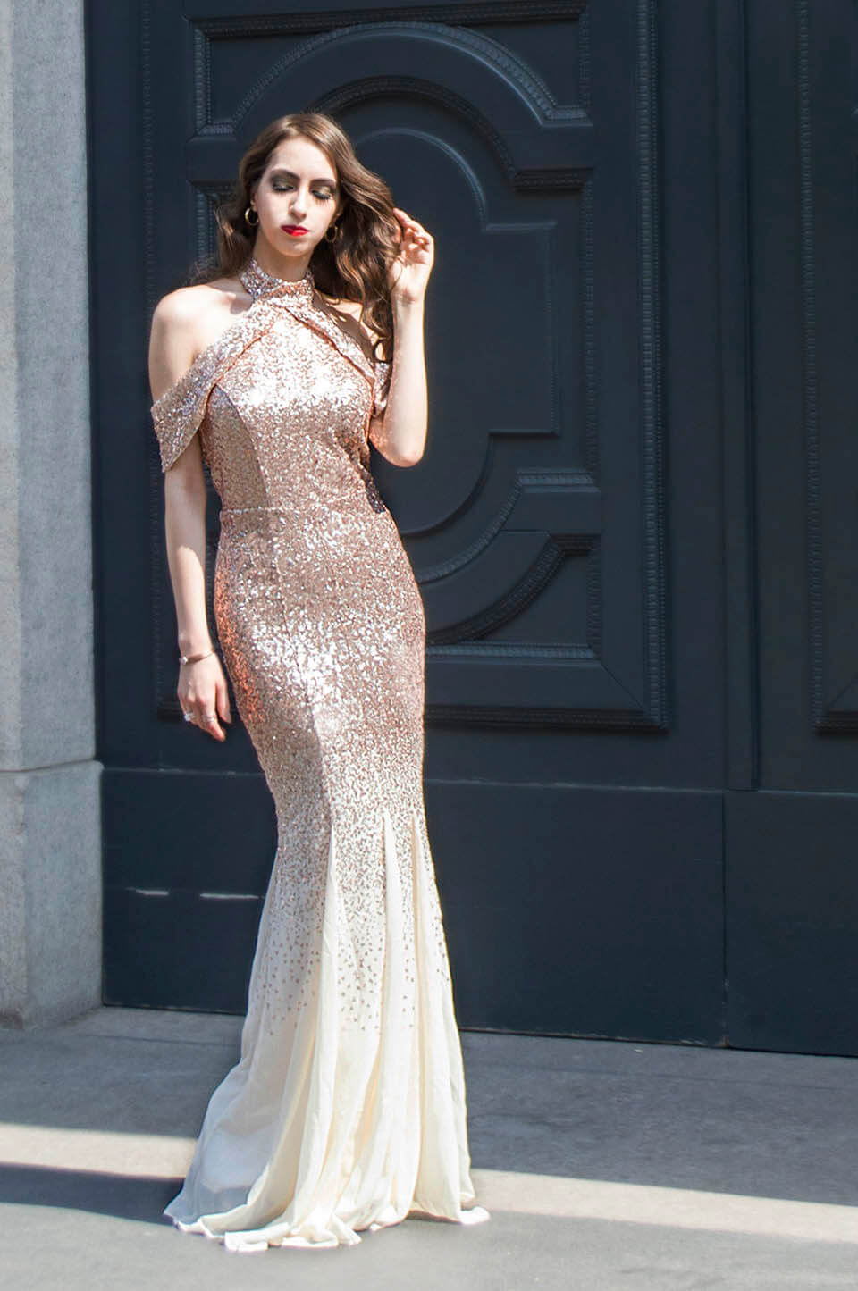 Sequin dress by Goddiva