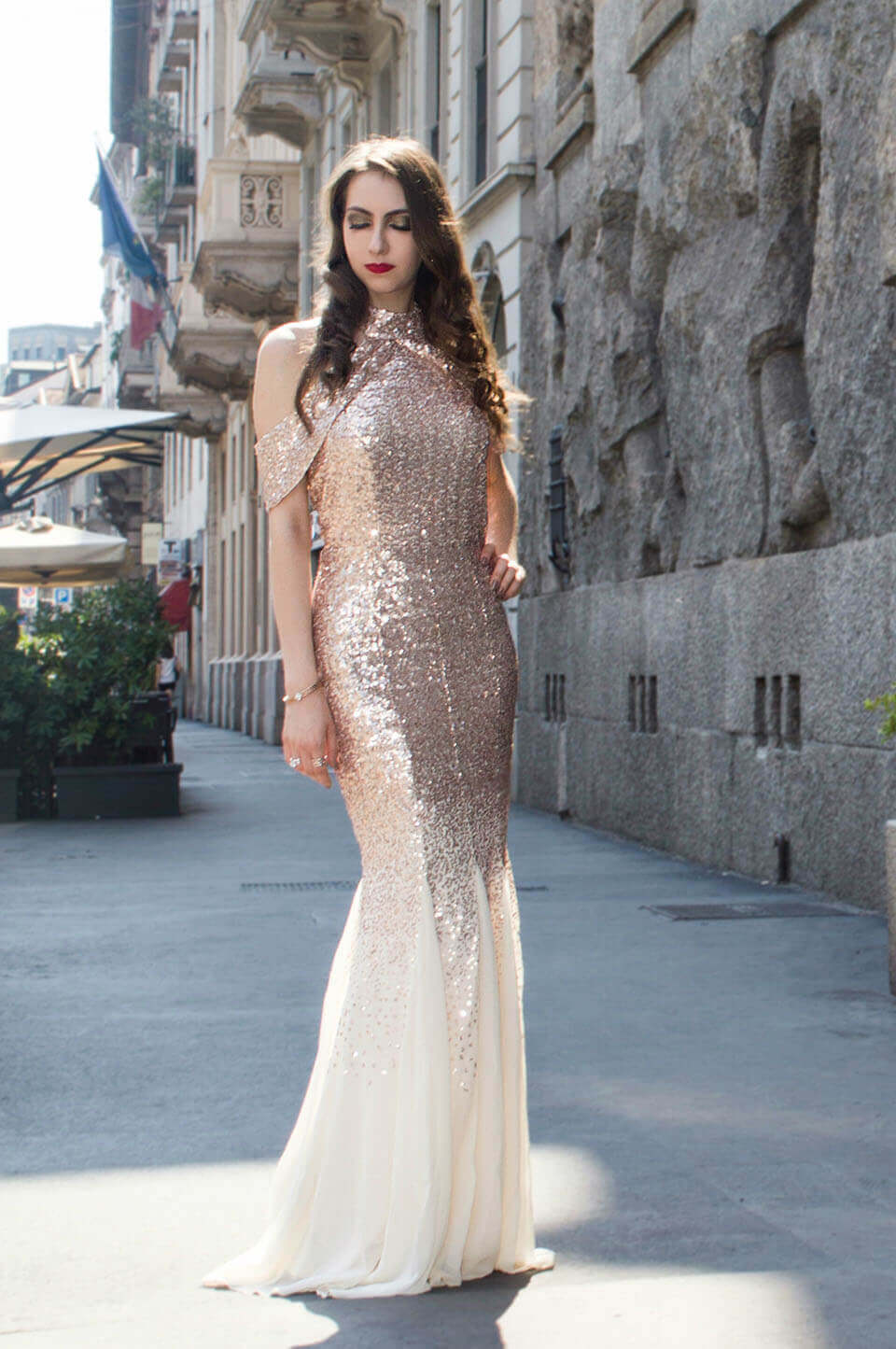 Sequin dress: long dress