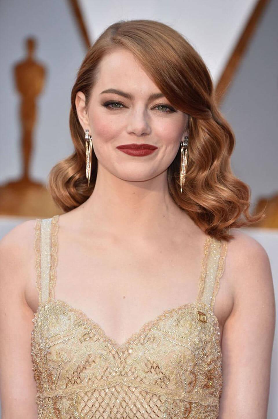 Cabelos ruivos: Emma Stone