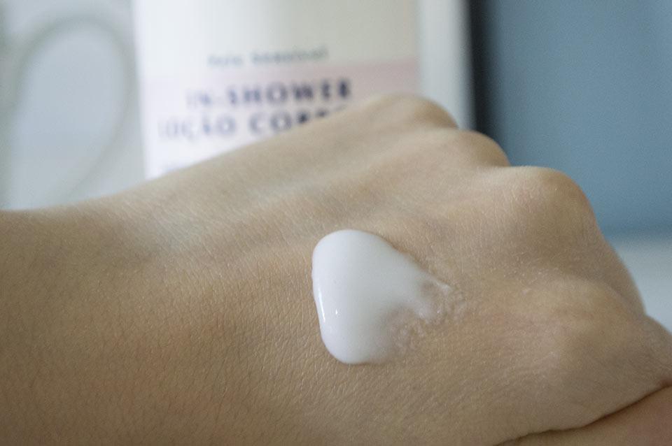 Textura do Eucerin Hidratante para banho