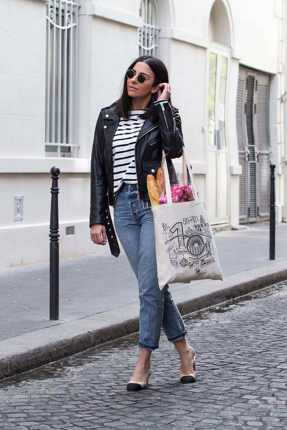 French fashion: breton t-shirt outfit