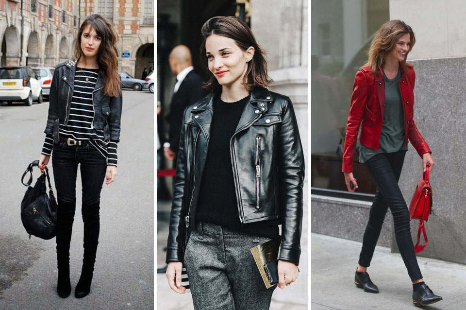 French Fashion: leather jacket