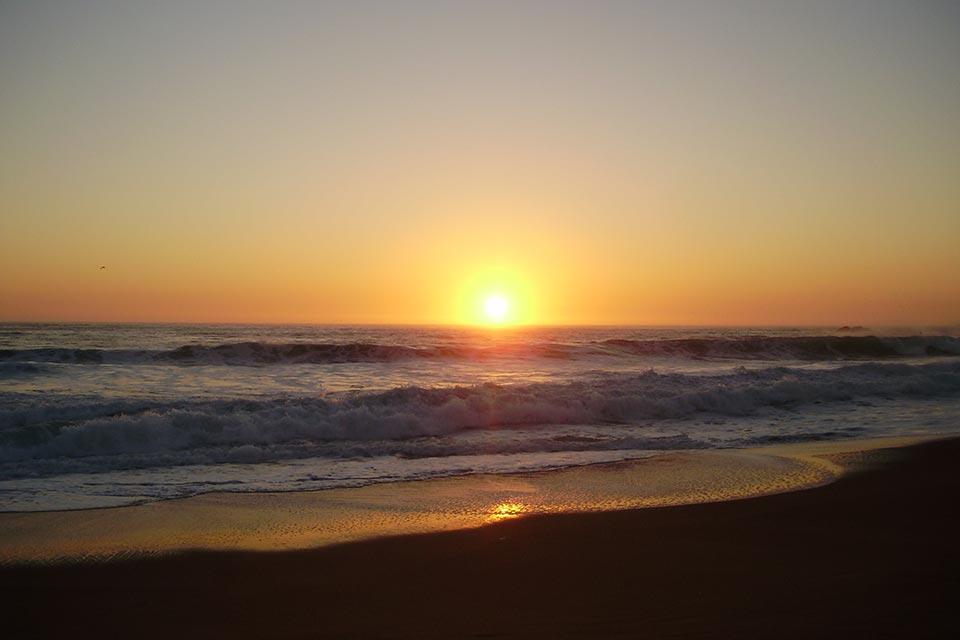 Pôr do sol no Chile