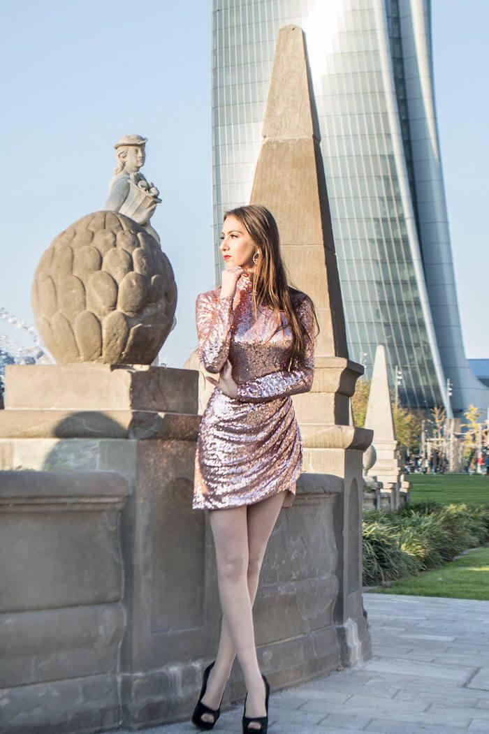 Sequin dress by Goddiva