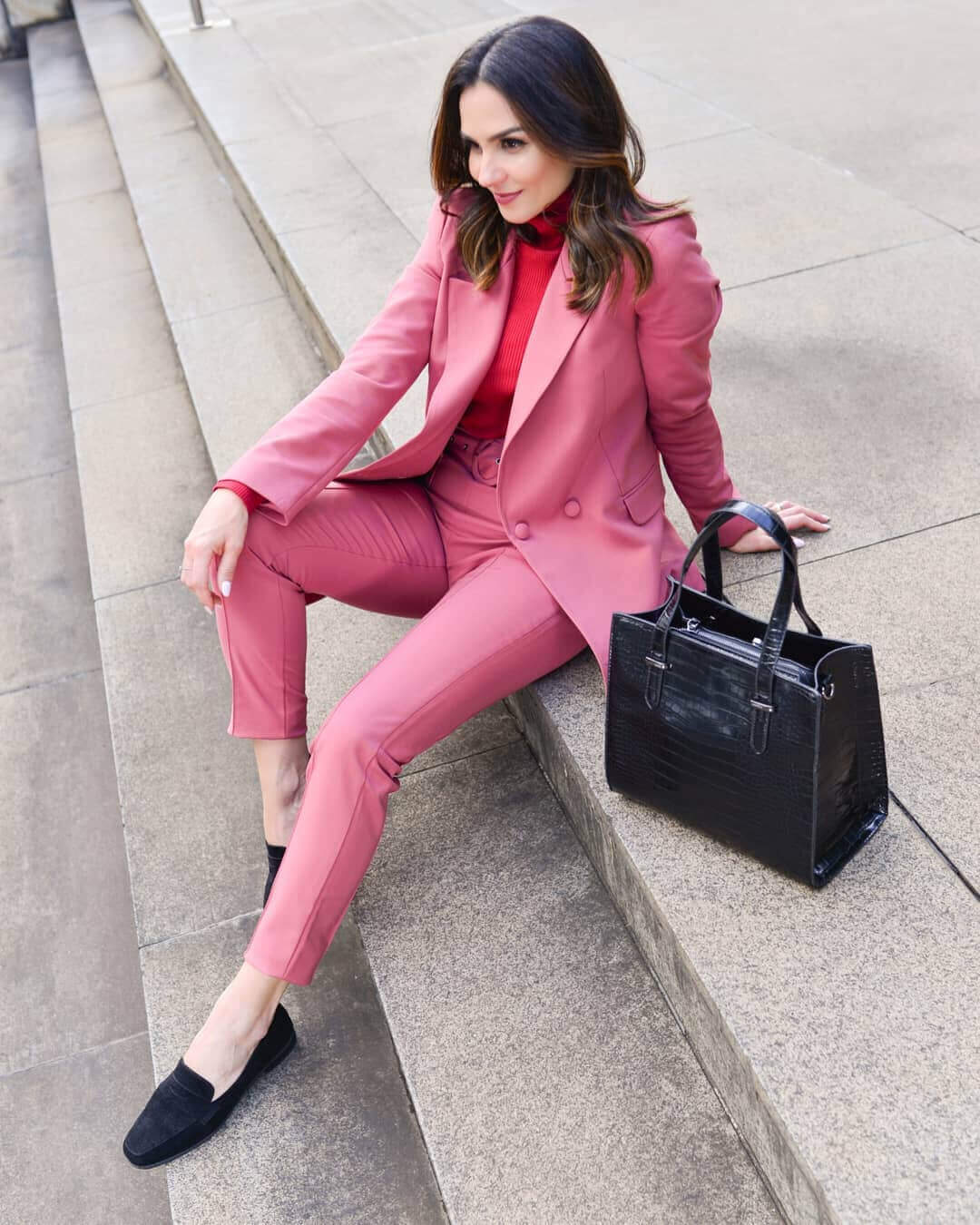 Look para trabalho: conjunto rosa