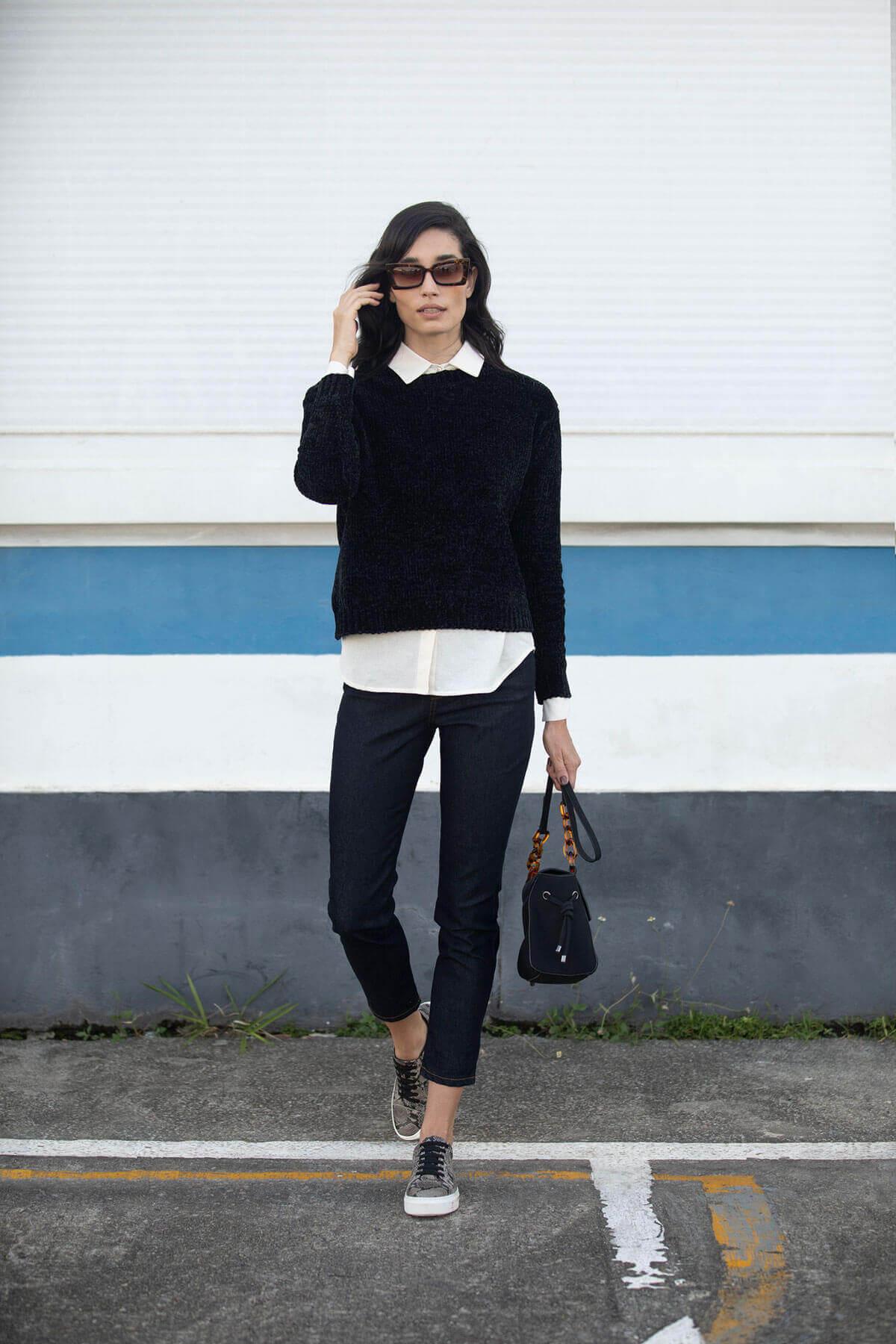 Roupas para trabalhar: look com suéter
