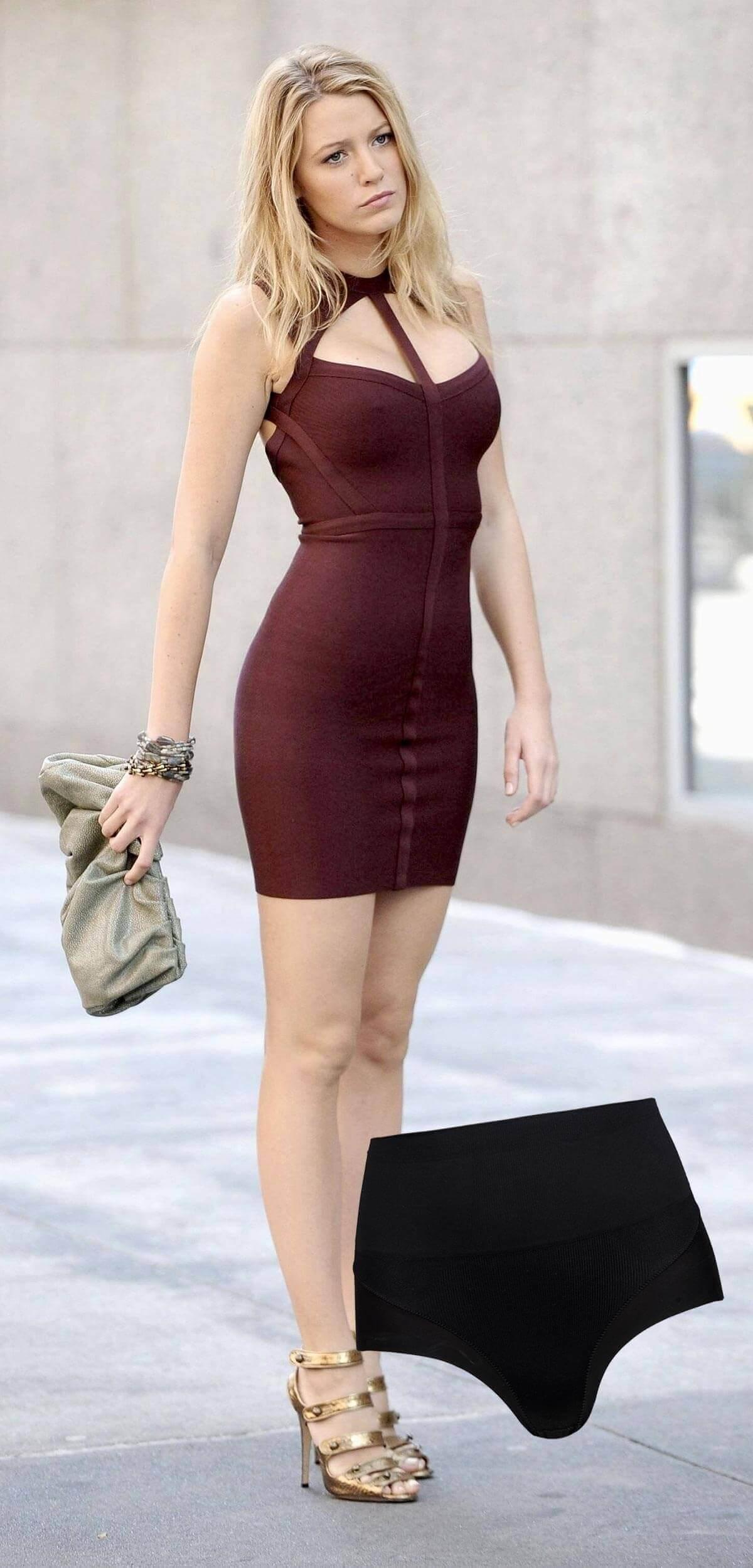 Vestido colado: calcinha modeladora