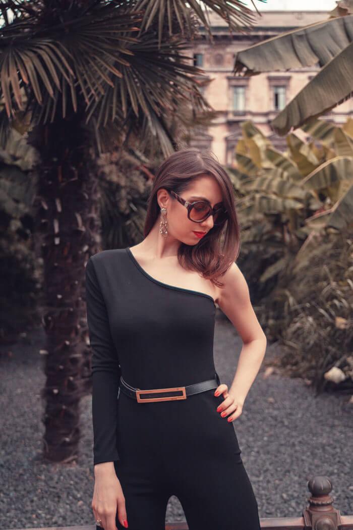 Black jumpsuit Femme Luxe