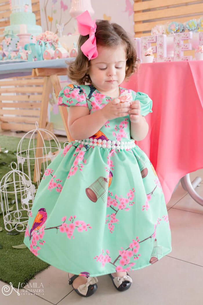 Vestido de festa infantil aniversário