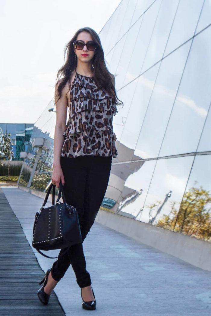 calça jeans preta - Manu Luize