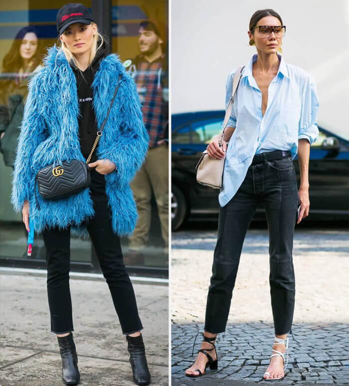 looks com calça jeans preta