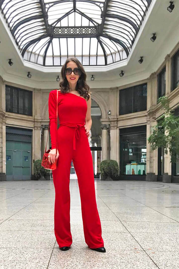 Red jumpsuit - Femme Luxe Finery