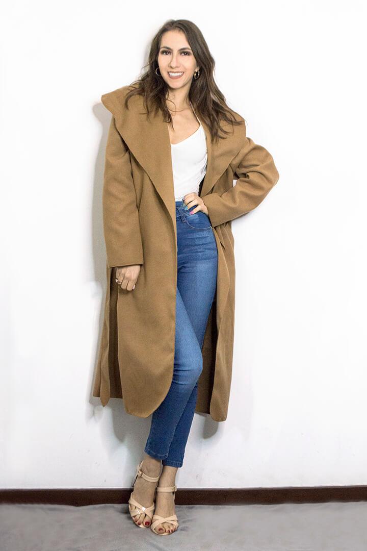 Camel coat Femme Luxe