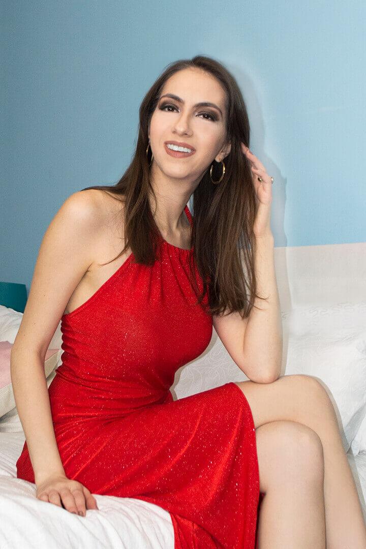 Red glitter dress