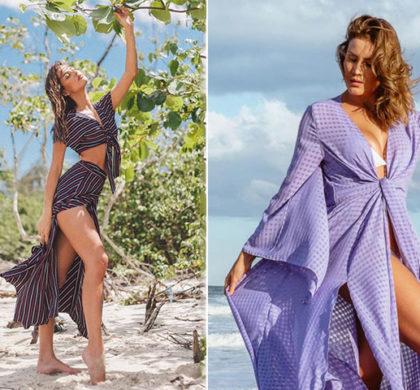 Saída de praia longa: 5 Modelos & 15 Fotos