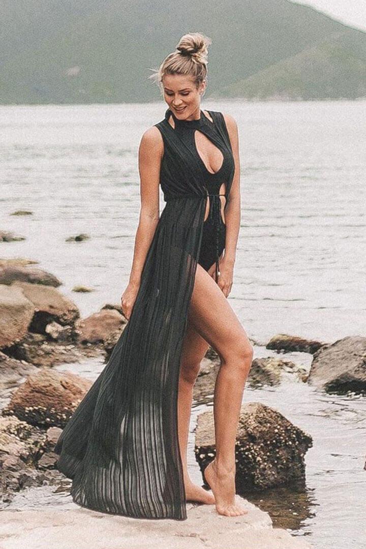 Vestido longo - Saída de praia