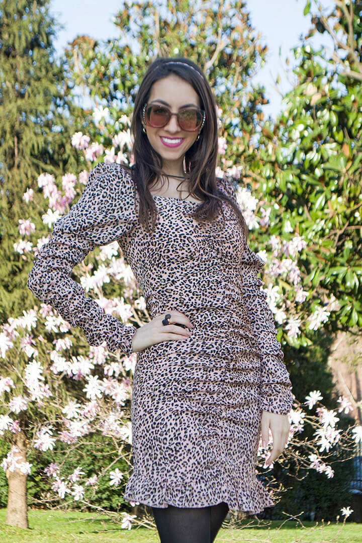 Leopard dress by Femme Luxe