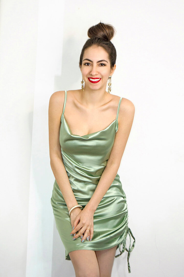 Green dress for spring