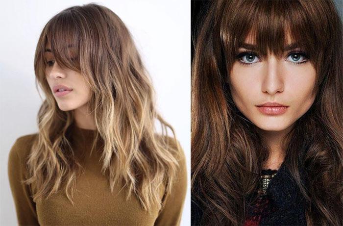 Tagli capelli lunghi con frangetta