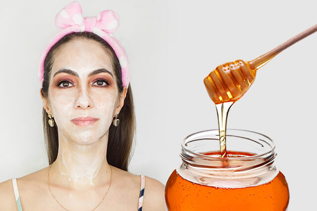DIY face mask with honey