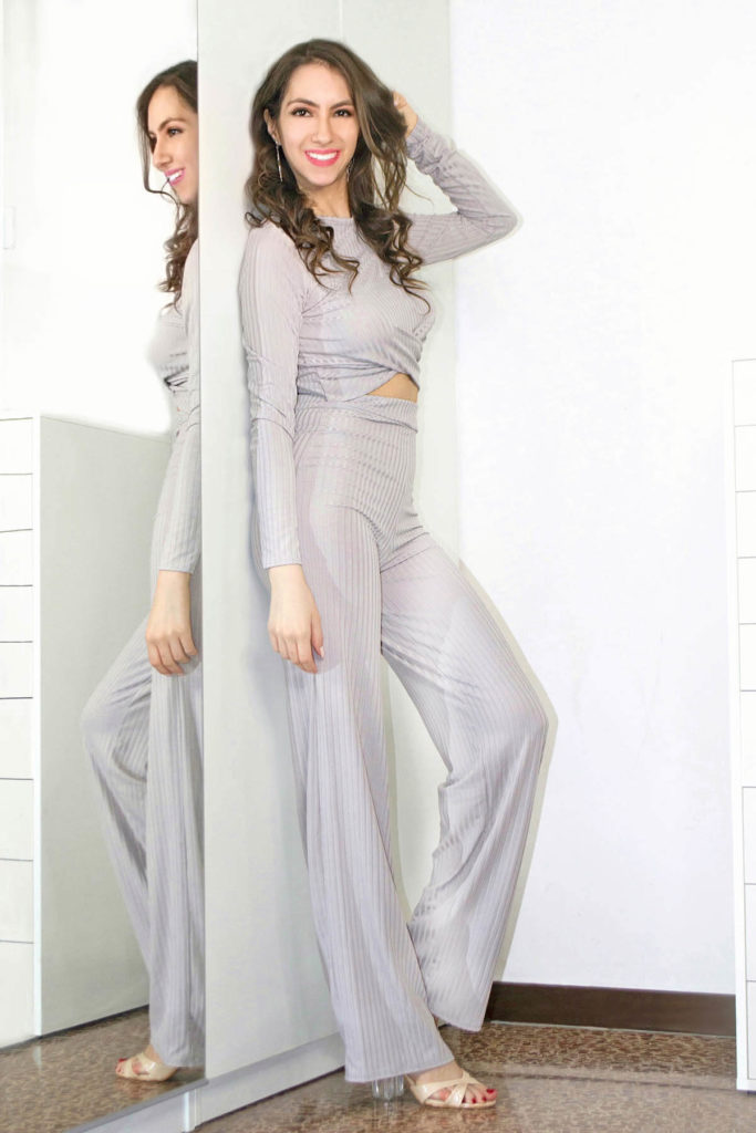 Grey loungewear set by Femme Luxe