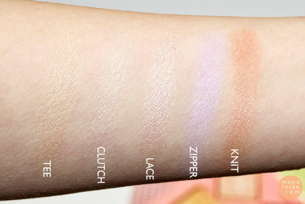 Pixi highlighter palette swatches
