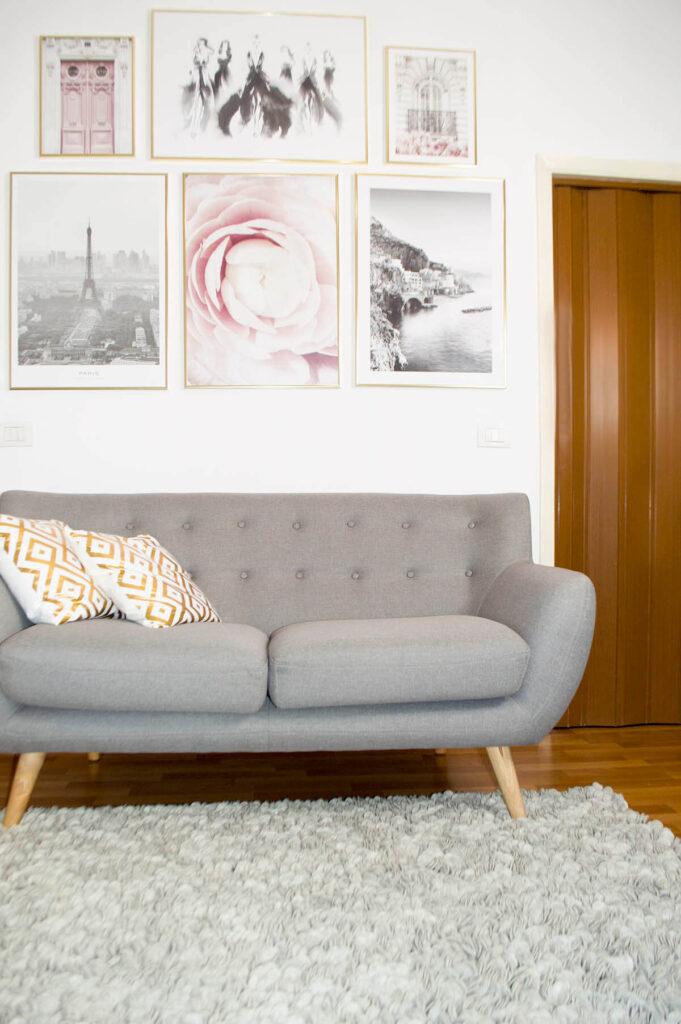 Grey rug for modern living room