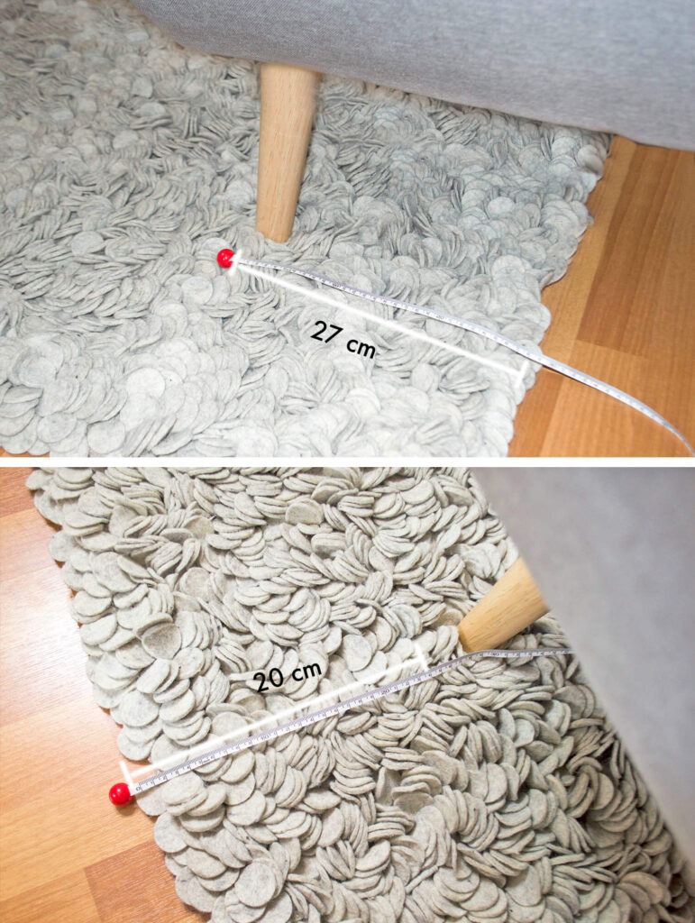 Right rug size for living room